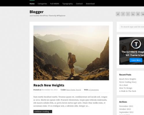 دانلود رایگان قالب وردپرس Blogger