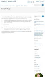 پیش نمایش موبایل قالب وردپرس Lawyer Landing Page