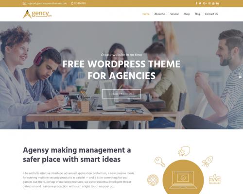 دانلود رایگان قالب وردپرس Agency Lite
