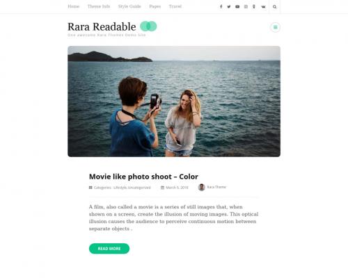 دانلود رایگان قالب وردپرس Rara Readable