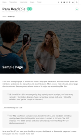 پیش نمایش موبایل قالب وردپرس Rara Readable
