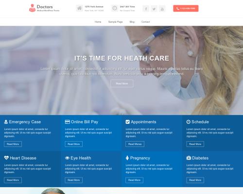 دانلود رایگان قالب وردپرس Doctors