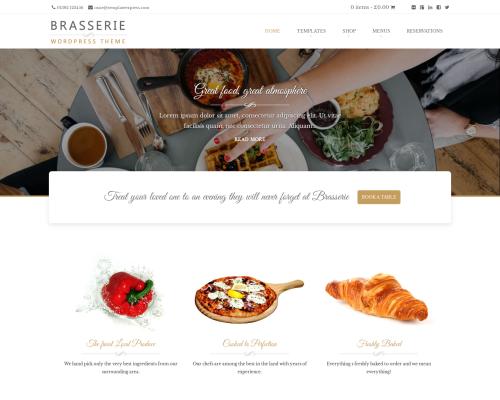 دانلود رایگان قالب وردپرس Brasserie