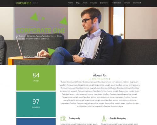 دانلود رایگان قالب وردپرس Corporate One