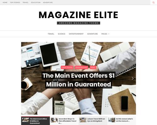 دانلود رایگان قالب وردپرس Magazine Elite