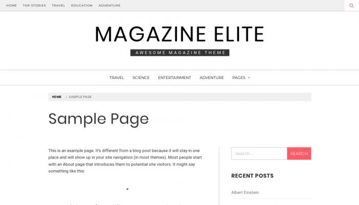 پیش نمایش دسکتاپ قالب وردپرس Magazine Elite
