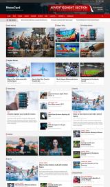 پیش نمایش موبایل قالب وردپرس NewsCard