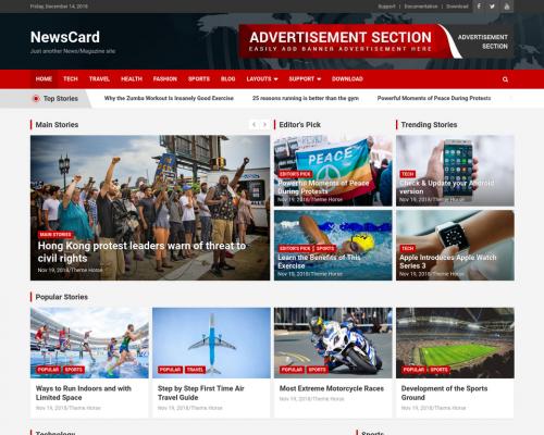 دانلود رایگان قالب وردپرس NewsCard