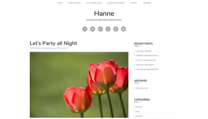 پیش نمایش دسکتاپ قالب وردپرس Hanne