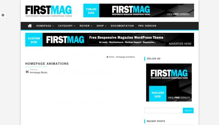 پیش نمایش دسکتاپ قالب وردپرس First Mag