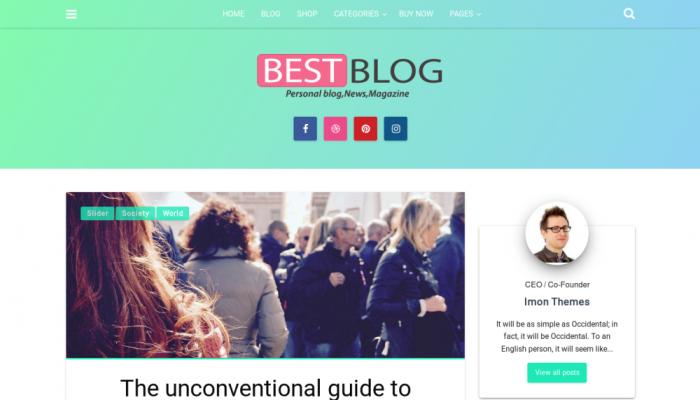 پیش نمایش دسکتاپ قالب وردپرس Best Blog