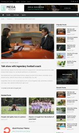 پیش نمایش موبایل قالب وردپرس Mega Magazine