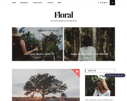 دانلود رایگان قالب وردپرس Floral Lite