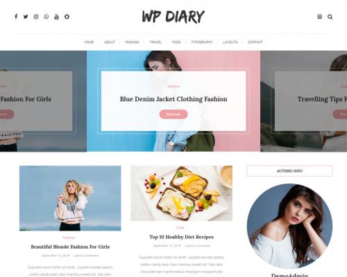 دانلود رایگان قالب وردپرس WP Diary