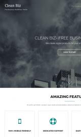 پیش نمایش موبایل قالب وردپرس Clean Biz