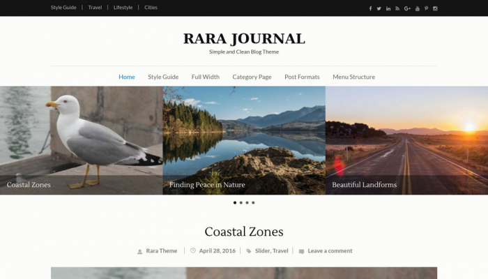 پیش نمایش دسکتاپ قالب وردپرس Rara Journal