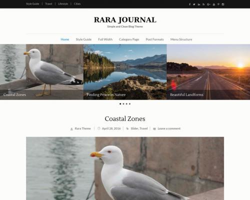دانلود رایگان قالب وردپرس Rara Journal