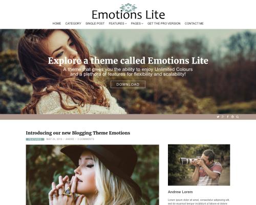 دانلود رایگان قالب وردپرس Emotions Lite