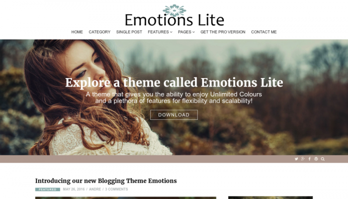 پیش نمایش دسکتاپ قالب وردپرس Emotions Lite