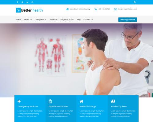 دانلود رایگان قالب وردپرس Better Health