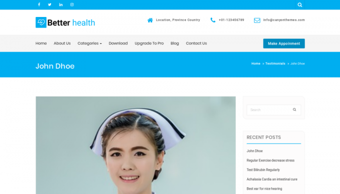 پیش نمایش دسکتاپ قالب وردپرس Better Health