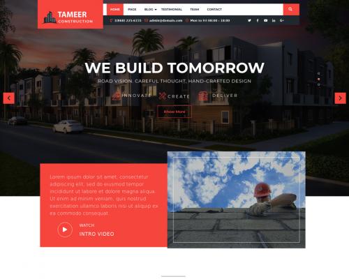 دانلود رایگان قالب وردپرس Tameer Construction