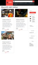 پیش نمایش موبایل قالب وردپرس Tameer Construction