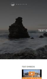 پیش نمایش موبایل قالب وردپرس Pacific