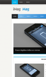 پیش نمایش موبایل قالب وردپرس iMag Mag