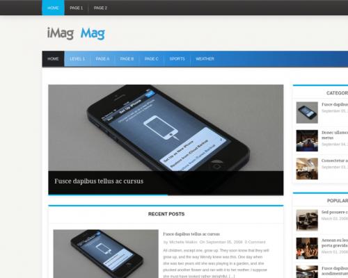 دانلود رایگان قالب وردپرس iMag Mag