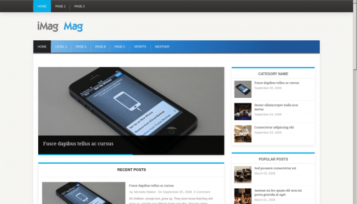 پیش نمایش دسکتاپ قالب وردپرس iMag Mag