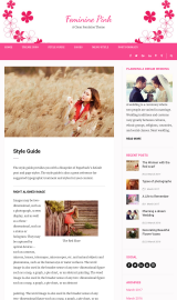 پیش نمایش موبایل قالب وردپرس Feminine Pink