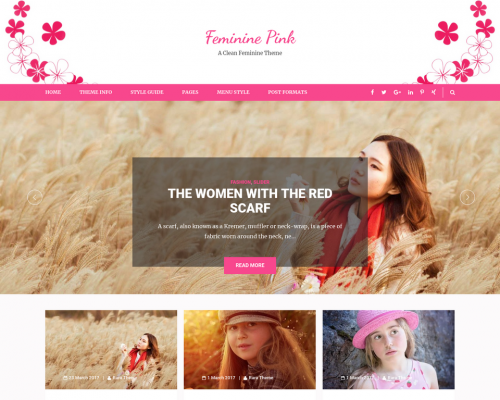 دانلود رایگان قالب وردپرس Feminine Pink