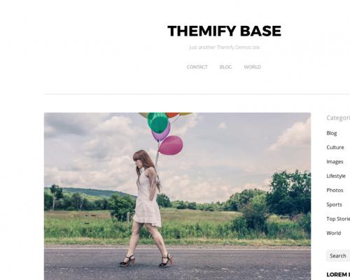 دانلود رایگان قالب وردپرس Themify Base