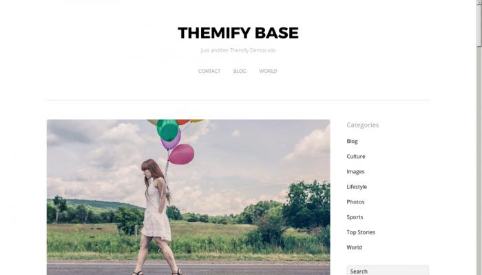 پیش نمایش دسکتاپ قالب وردپرس Themify Base