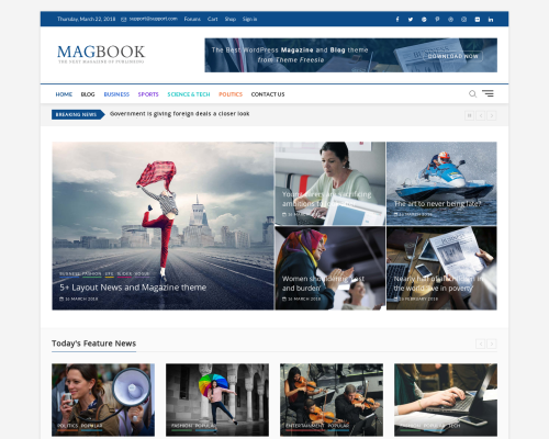 دانلود رایگان قالب وردپرس Magbook