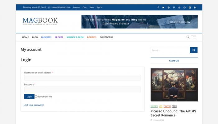 پیش نمایش دسکتاپ قالب وردپرس Magbook