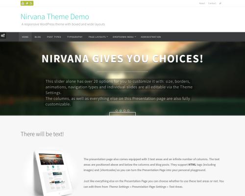 دانلود رایگان قالب وردپرس Nirvana