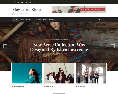 دانلود رایگان قالب وردپرس Magazine Shop