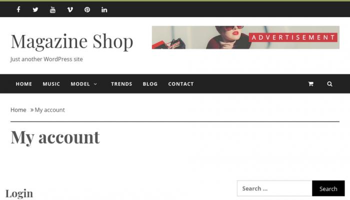 پیش نمایش دسکتاپ قالب وردپرس Magazine Shop