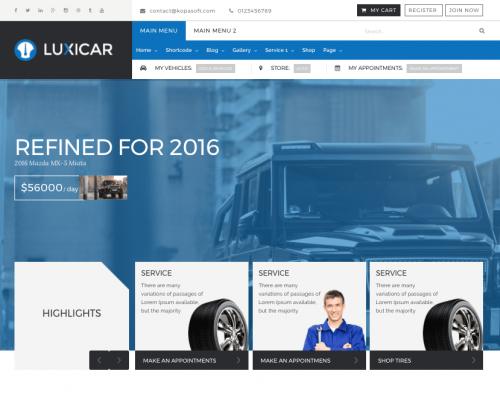 دانلود رایگان قالب وردپرس Luxicar Lite