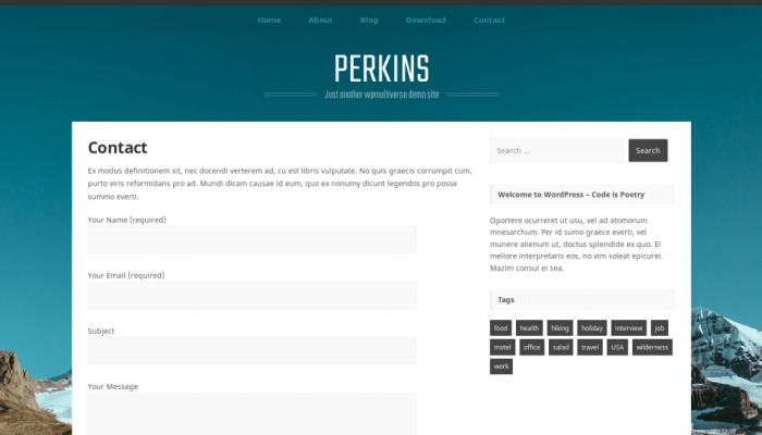 پیش نمایش دسکتاپ قالب وردپرس Perkins
