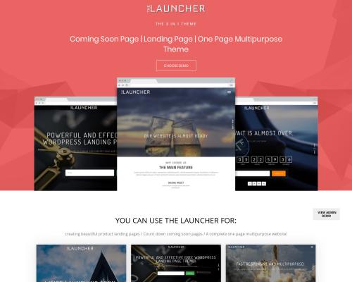 دانلود رایگان قالب وردپرس The Launcher