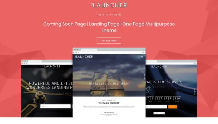 پیش نمایش دسکتاپ قالب وردپرس The Launcher
