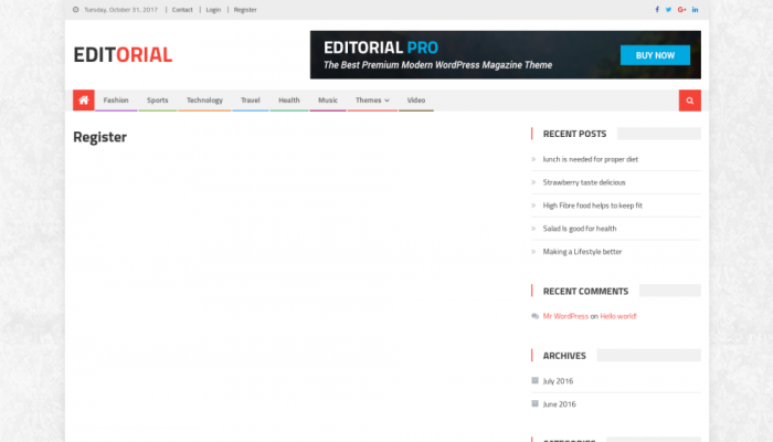 پیش نمایش دسکتاپ قالب وردپرس Editorial