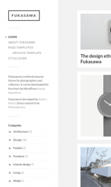 پیش نمایش موبایل قالب وردپرس Fukasawa