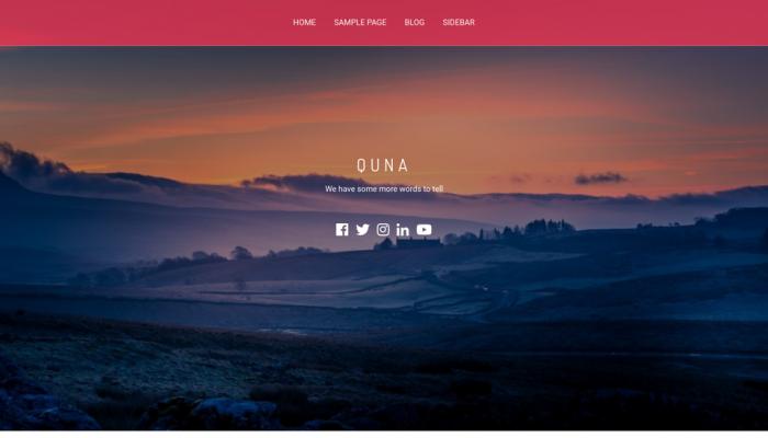 پیش نمایش دسکتاپ قالب وردپرس Quna