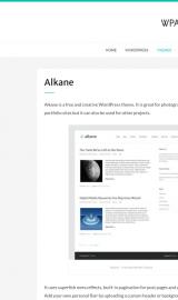 پیش نمایش موبایل قالب وردپرس Alkane