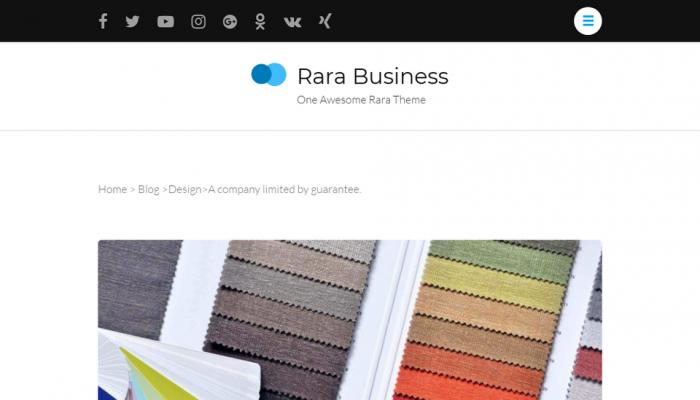 پیش نمایش دسکتاپ قالب وردپرس Rara Business