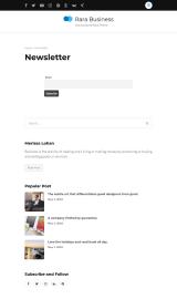 پیش نمایش موبایل قالب وردپرس Rara Business